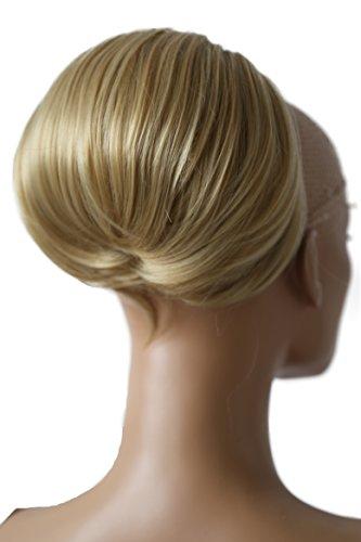 PRETTYSHOP Dutt Haarteil Zopf Haarknoten Hepburn-Dutt Haargummi Hochsteckfrisuren Blond Mix HD6a