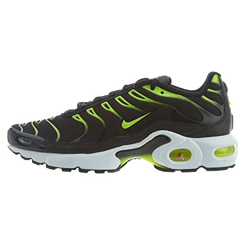 Nike Air Max Plus GS Tn Tuned 1 Trainers 655020 Sneakers Shoes (UK 5 US 5.5Y EU 38, Black Volt Dark Grey White 086)