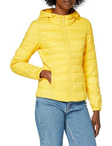 Only ONLNEWTAHOE Contrast Hood Jacket CC OTW Chaqueta, Limón, S para Mujer