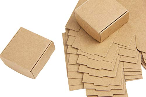SUNBEAUTY 10 Boxen Mini Kraftpapier Kasten Kartons Geschenkboxen Gastgeschenk Packung (Mini)