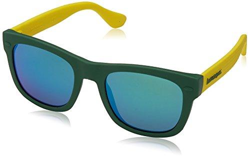 Havaianas PARATY/S Z9 QPN 48 Occhiali da Sole, Verde Yellow/Green, Bambino