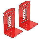 Kioneer - Fermalibri in metallo, 1 paia, stile vintage, stile britannico, cabina telefonic...