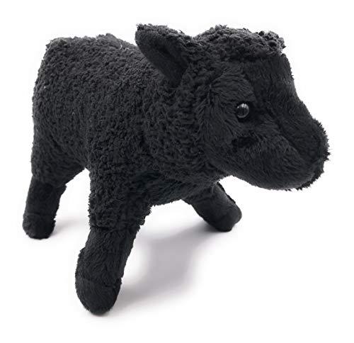 Onwomania Peluche Peluche Animal Oveja Animal muflón Negro pie 20 cm