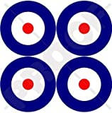 RAF British Royal AirForce Type A Aircraft Roundels 2' (50mm) Vinyl Stickers, Decals x4
