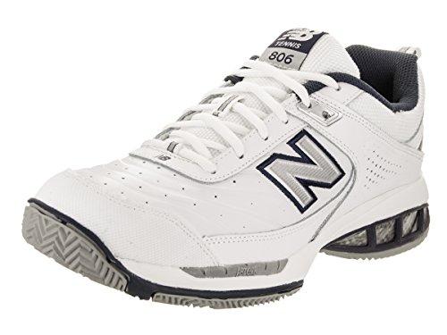 New Balance Men's 806 V1 Tennis Shoe, White, 10 N US