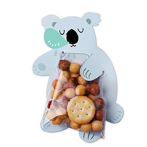 Fat Bear 10 stks Voedsel Card Verpakking Tas Leuke Cartoon Dier Bakken Decoratieve Tas Kaart voor Snoep Cookies 10 Sheets/Tas Love sleeping koala