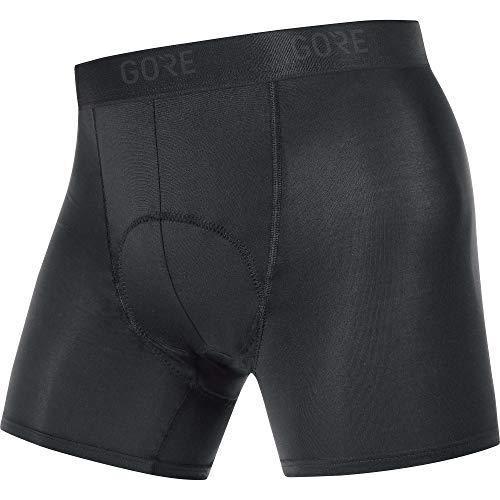 GORE WEAR C3 Herren Fahrrad-Boxer-Shorts mit Sitzpolster, XXL, Schwarz
