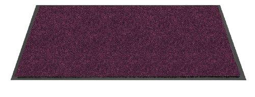 Tapis d?entrée TWISTER - Violet - 60x90 cm - Support vinyl antidérapant