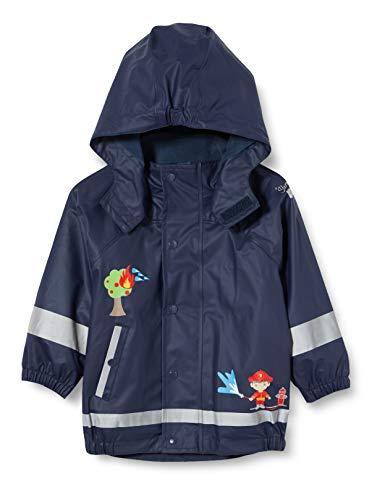 Sterntaler Kinder Regenjacke mit Innenjacke, 3-in-1-Multifunktionsjacke, Mit Feuerwehr-Motiven, Alter: 4-6 Jahre, Größe: 110, Blau (Marine)