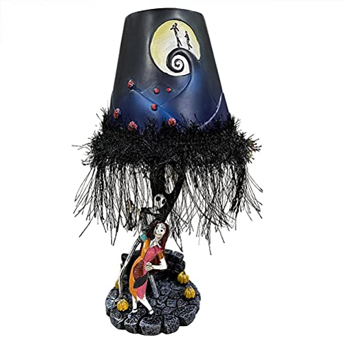 ABCDJHH Lámpara de Mesa Nightmare Before Christmas, lámpara de Mesa Jack Skellington, lámpara de Mesa de Monstruo de Halloween, Modelo Hecho a Mano de Resina, Decoraciones de Escritorio, Regalos