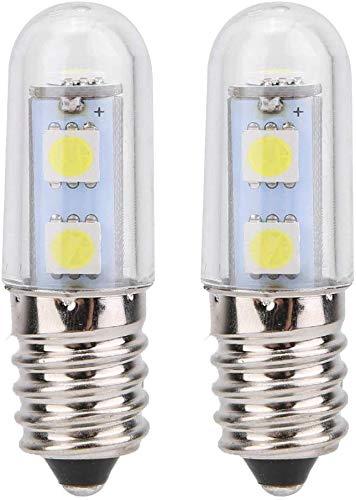 Bombilla LED E14/E12, 1,5 W, 100 lm, luz blanca cálida/fría, ángulo de haz de 360°, para frigorífico, campana extractora, máquina de coser: Amazon.es: Iluminación