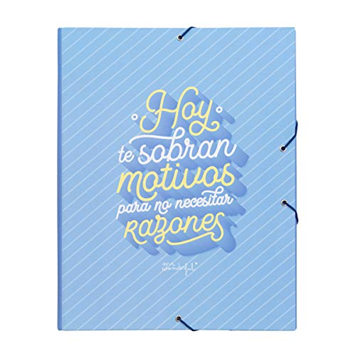 Mr. Wonderful Carpeta separadora-Hoy te sobran Motivos para, Multicolor, Talla única