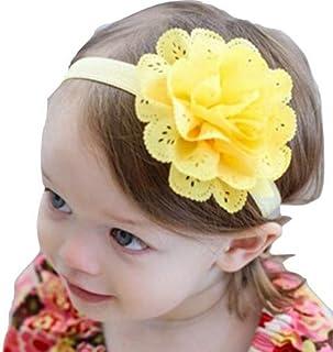 3 PCS of baby girl headband Infant hair accessories clothes band flower newborn floral Headwear tiara headwrap hairband Gi...