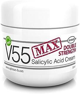 V Series Creams - Crema V55 MAX De Doble Eficacia Con Ácido Salicílico Para Granos Puntos Negros Rojeces y Piel Problemáti...