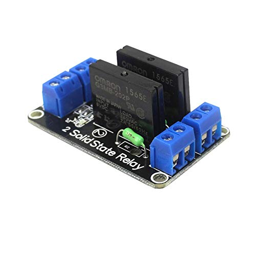 Tivivose Smart Electronics 1/2/4 Kanal 5V DC Relay Modul Solid State Low Level G3MB-202P Relais SSR AVR DSP für for Arduino DIY Kit (Size : 2 Channel Relay)