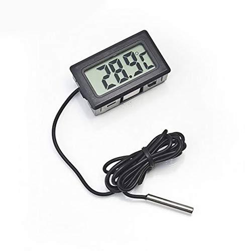 MXECO Auto Thermometer Auto Ornamente LCD Display Digitaluhr Auto-Styling Temperaturanzeige Meter Für Aquarium Kühlschrank (schwarz)