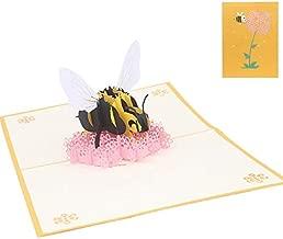 3D Pop Up Card - Bee Flower Greeting Cards Handmade Birthday Wedding Invitation 3D Pop Up Card W215