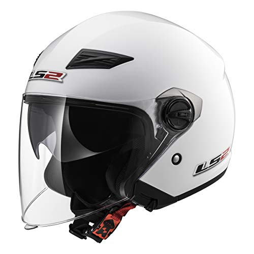 LS2 Helmets 569 Track Solid Open Face Motorcycle Helmet with Sunshield