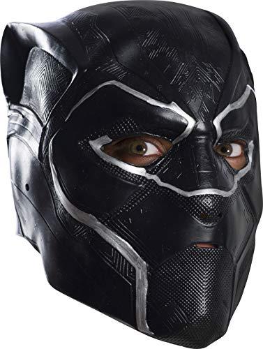 Rubie's Men's Black Panther 3/4 Mask Vinyl Adult, Multi, One Size