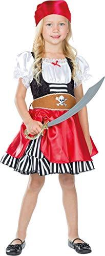 Mottoland Kinder Kostüm Piratenmädchen Grace Fasching Karneval Halloween: Größe: 116