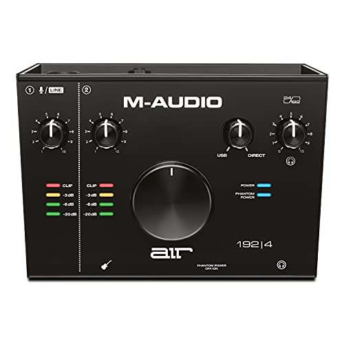 M-Audio AIR 192|4 - 2-In/2-Out USB Audio Interface with Recording Software from ProTools & Ableton Live, Plus Studio-Grade FX & Virtual Instruments