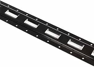8 Pack | 5' E Track Tie-Down Rail, Powder-Coated Steel ETrack TieDown | 5' Vertical E-Track Bolt-On Tie Down Rail for Cargo on Pickups, Trucks, Trailers, Vans