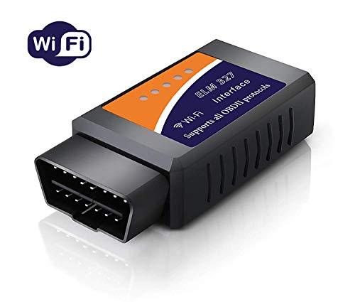OUNDEAL OBD2 WiFi Auto Code Lettore, Diagnosi Scansione Strumento con 3000 Code Banca Dati Auto Diagnostic Scan Code Reader Adattatore Supporto iOS Android Windows