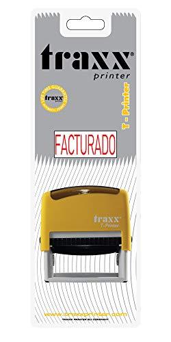 Traxx t-printer (es) self Inking stock testo timbro Facturado (1573)