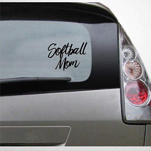 Pegatina auto de Softball Mom, vinilo para coche, decoración para ventana, parachoques, portátil, paredes, computadora, vaso, taza, teléfono, camión, accesorios de coche