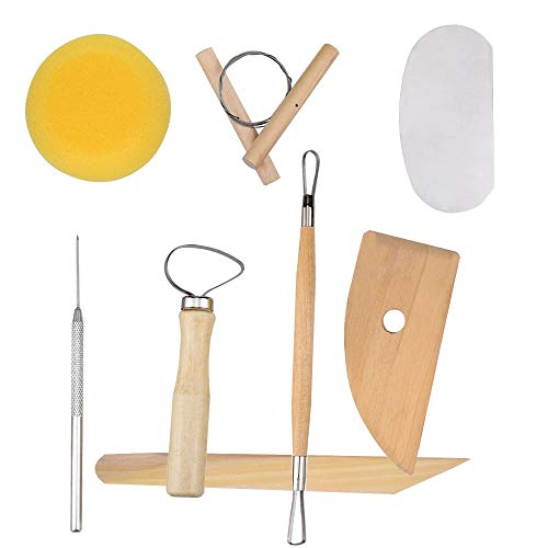 RuiLing 8PCS in 1 Kit Good Quality Clay Ceramics Molding Tools Wooden Knife Pottery Tools