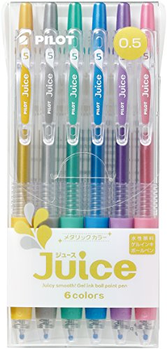 Pilot Juice Gel Ink BallpointPen, 0.5mm, Metallic Colors (LJU-60EF-6CM)