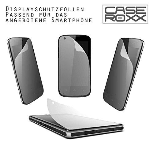 caseroxx TPU-Hülle & Bildschirmschutzfolie für Medion Life X5020 MD 99367 / MD 99462, Set (TPU-Hülle in schwarz-transparent)