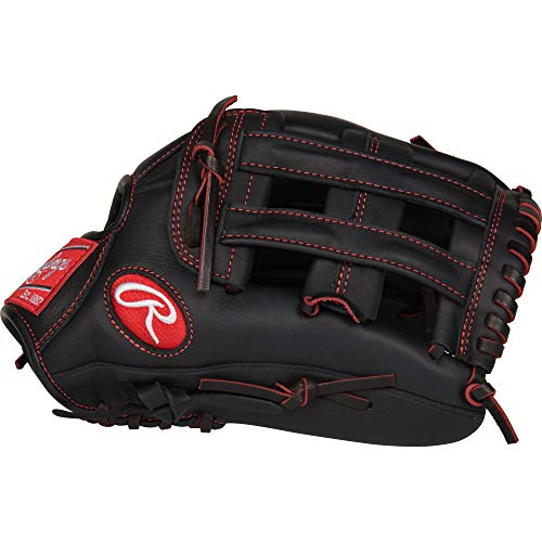 """Rawlings R9 Baseball Youth Pro Taper 12"""" OF, R9YPT6-6B-3/0 Gloves , Right Hand Throw"""