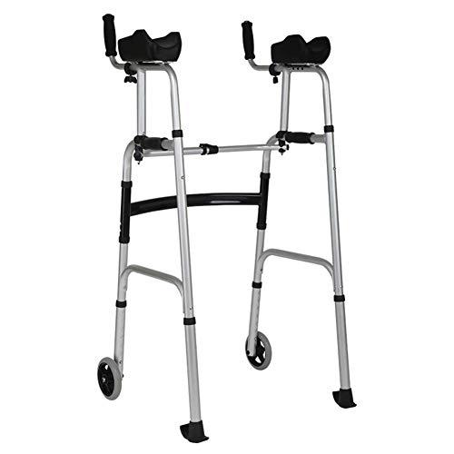 Walker - Seniorenvoorkant rollator, aluminiumlegering armsteun met 2 knoppen en 5 inch wielen, in hoogte verstelbaar (hort, standaard, groot mensen)