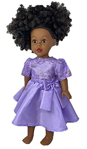 Doll Clothes Superstore Lavender Party Dress Fits Cabbage Patch Kid Dolls and 18 Inch Girl