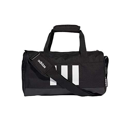 adidas 3S DUF XS Sporttasche, Unisex Erwachsene, Schwarz/Schwarz/Weiß, Einheitsgröße