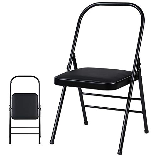 A/M Stuhl JRC Erfahrung Multifunktionale Folding Yoga Stuhl, Couble Beam (Schwarz) Computerstuhl (Color : Black)