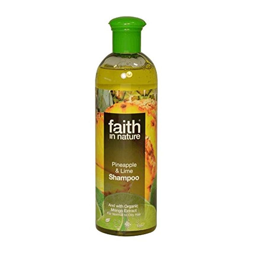 鳴らす荷物盲目Faith in Nature Pineapple & Lime Shampoo 400ml (Pack of 2) - 自然パイナップル&ライムシャンプー400ミリリットルの信仰 (x2) [並行輸入品]