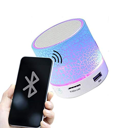 gobuy ooth Speakers Wireless, Portable Bluetooth Speakers Wireless, Handsfree with Calling Functions for All Smartphones (Mulicolor) (Wireless Mini Speaker S10)