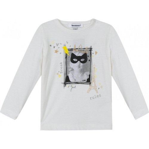 3 Pommes tee shirt Manches longues photoprint little rebel 9, 12 mois 80 cm