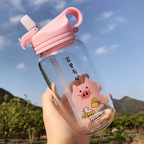 New Creative Straw Glass Flower Tea Fruit Tea Juice Cup