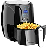VPCOK Air Fryer Oil Free Air Fryer Oven Electric Air Fryer Recipe Included 3.8 QT 6 Presets LED...