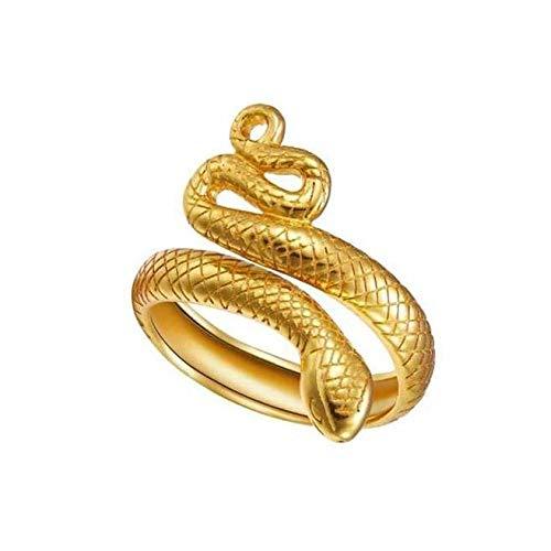 DARK DIAMOND - Anillo Snake en Plata de Ley 925 o bañados en oro de 18K. (Oro)