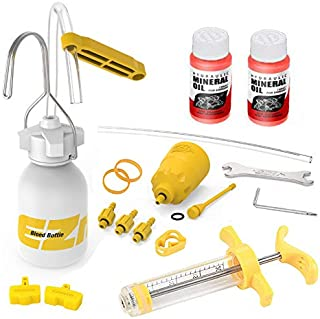 Revmega Professional Hydraulic Mineral Disc Brake Bleed Kit Tool for Shimano - with 2 Bottle 120ml Mineral Oil