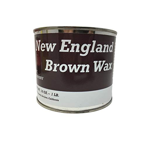 The BWC Company New England Brown Wax, Brown Paste Wax for Wood, Furniture, Floor, Sculpture, Concrete Counter Tops, Metal and Copper Finishing — 16 oz. (1 lb.) Can