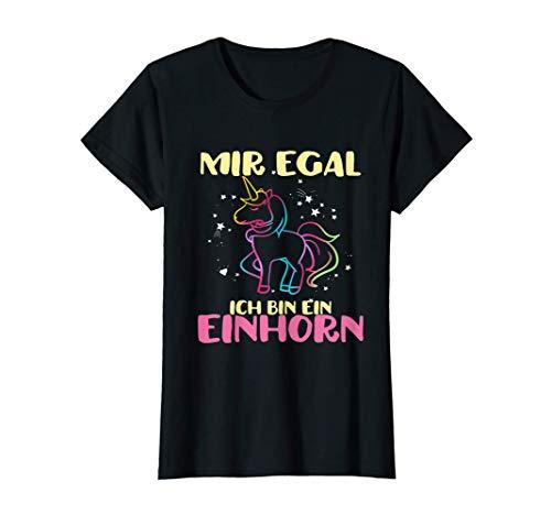 Einhorn Mir Egal Ich Bin Ein Einhorn Fabelwesen Geschenk T-Shirt