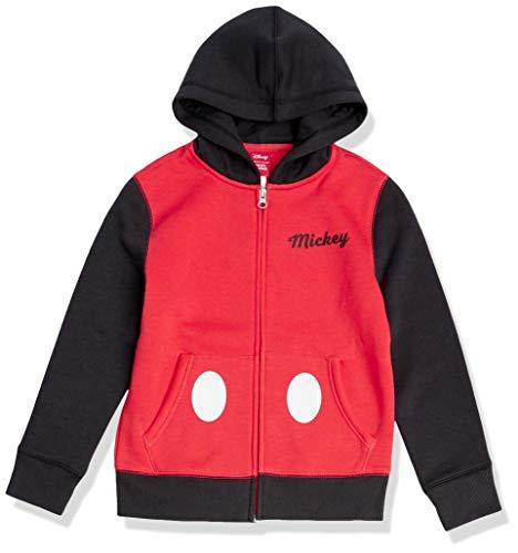 Amazon Essentials Disney Star Wars Marvel Fleece Zip-Up Sweatshirt Hoodies Fashion, Mickey Color Block, 2 años