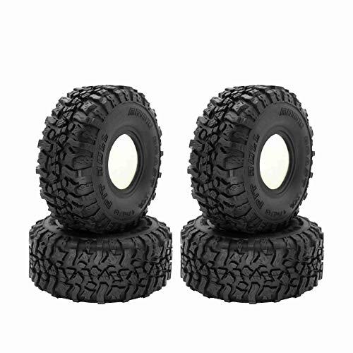 WANGYOUCAO 4 Uds 120MM 1,9 Pulgadas neumáticos de Goma neumáticos de Rueda para 1/10 RC Crawler Axial SCX10 90046 AXI03007 TRX4 TF2 D90