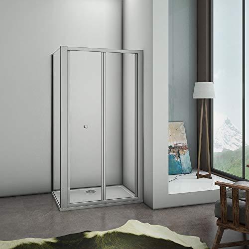 vouwbare douchedeur,douchecabine 90x185cm,zijpaneel 76cm,mat grijs profiel,5mm helder veiligheidsglas