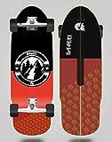 Sakari Surfskate with SGI Sakari Surf Skate Trucks Downhill Juice Red 32